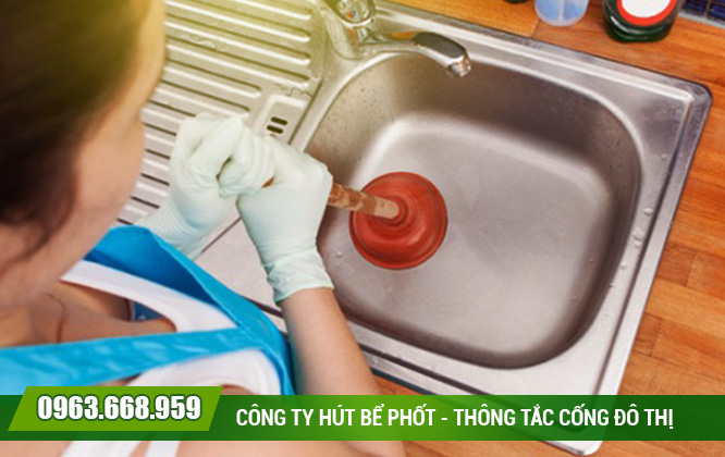 Lắp đặt chậu rửa mới