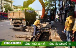 Nạo vét hố ga tại quận Hoàng Mai