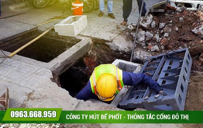 Nạo vét hố ga tại quận Thanh Xuân