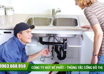Thông tắc chậu rửa tại quận Long Biên