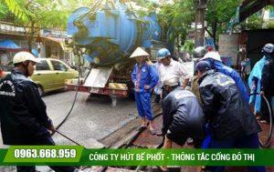 Thông tắc cống tại quận Hoàn Kiếm