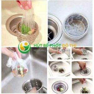 Sử dụng túi lọc rác chậu rửa bát giúp hạn chế được việc tắc nghẽn chậu rửa bát, nhà tắm