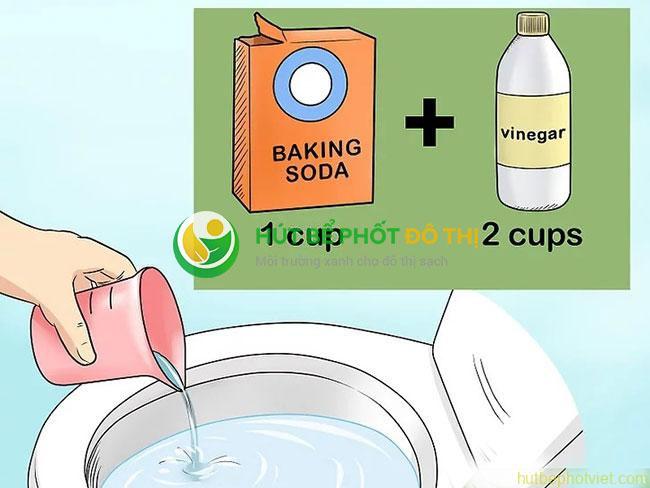 Tăng hiệu quả thông cống bằng baking soda và giấm